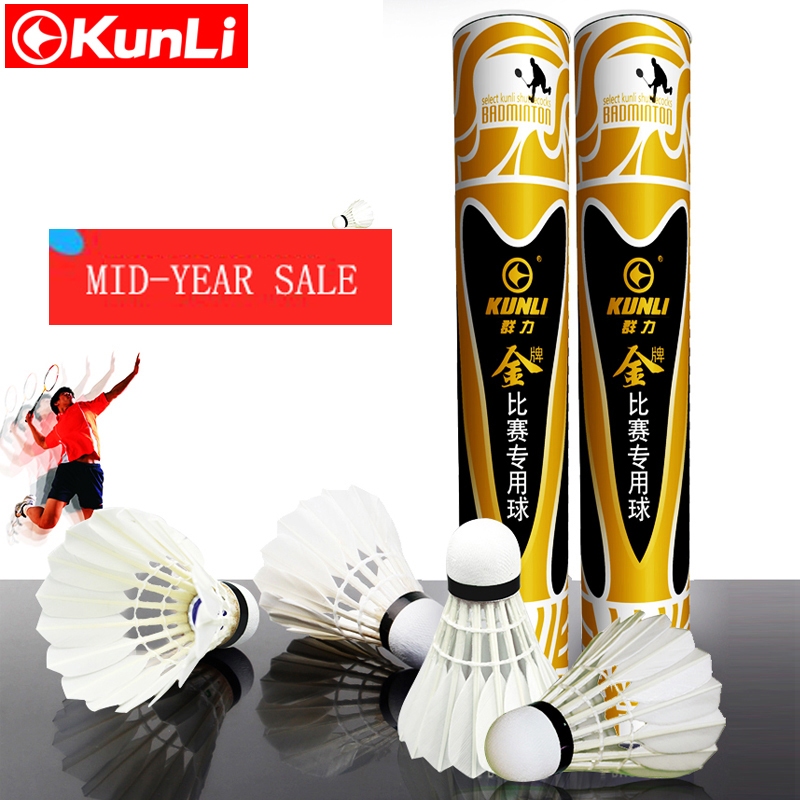 Kunli badminton shuttlecocks KL-gold Top grade goose feather shuttlecocks for International Tournament Best durable best flying