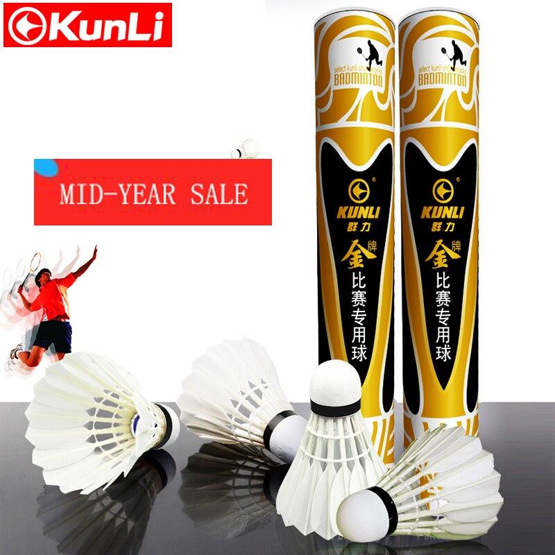 Kunli badminton shuttlecocks KL gold Top grade goose feather shuttlecocks for International Tournament Best durable best