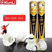 Kunli badminton shuttlecocks KL gold Top grade goose feather shuttlecocks for International Tournament Best durable best flying
