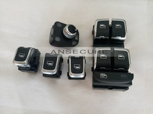 5 PIECES chrome  Electric Power Window Switch Panel AND MIRROR SWITCHES  FOR AUDI A3 8V  2014-2015 8VD 959 855 / 851 / 565