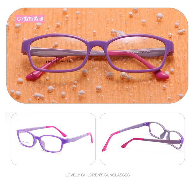 e2c6cd741c6 TR90+ Silicone Rubber Kids Quality Eyeglasses Size 48 One-piece Children  Glasses Frame Unbreakable Flexible Girls Boys Glasses. 1 order