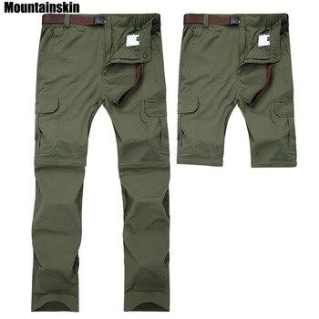 Mountainskin 7XL erkek Yaz Hızlı Kuru Çıkarılabilir Pantolon Nefes Pantolon Açık Spor Yürüyüş Trekking Balıkçılık Şort VA110