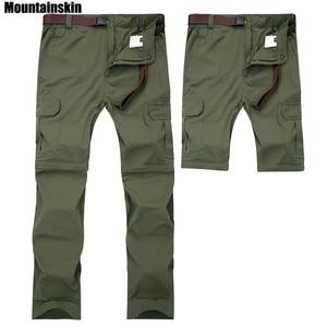 Image 1 - Mountainskin 7XL גברים של קיץ מהיר יבש נשלף מכנסיים לנשימה מכנסיים חיצוני ספורט טיולי טרקים דיג מכנסיים VA110