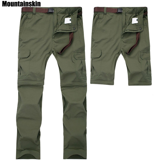 Mountainskin 7XL גברים של קיץ מהיר יבש נשלף מכנסיים לנשימה מכנסיים חיצוני ספורט טיולי טרקים דיג מכנסיים VA110