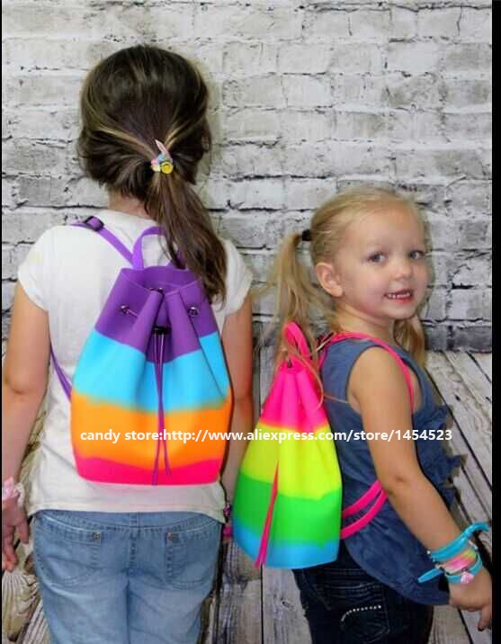 100pcs 2016 fashion silicone backpack for students candy color