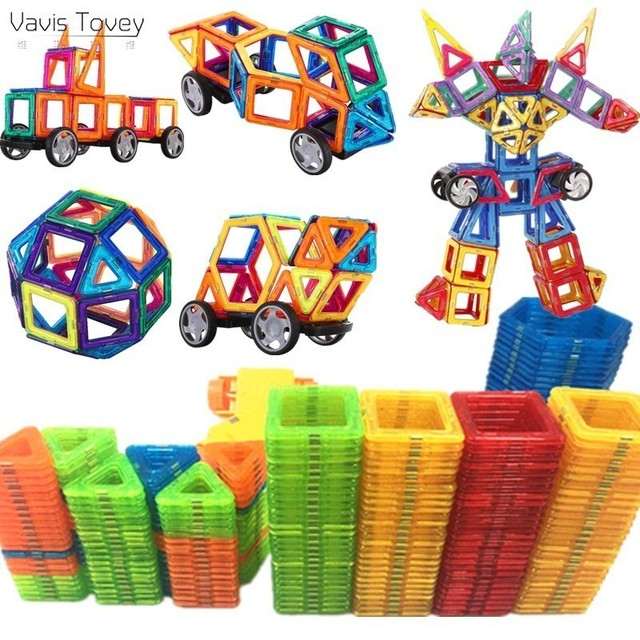 Vavis Tovey 143-47PCS Magnet Toys Building Blocks Magnetic Construction Sets Designer Kids toddler Toys brinquedos Gift