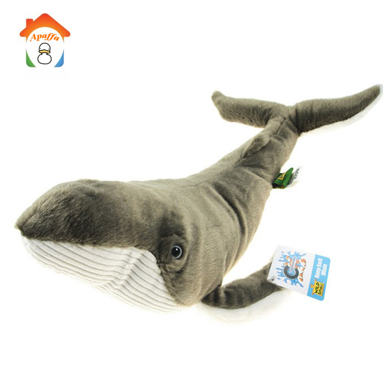 38cm Kawaii Whales Stuffed Animal Dolls Fish Plush Toys with Soft PP Cotton Creative Cute Whale Toy Christmas Gift For Kid BF082