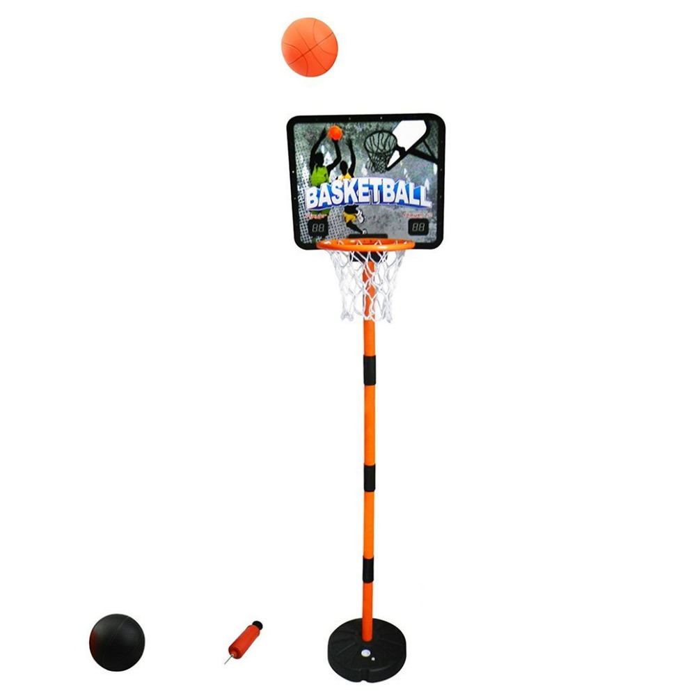 Electronic Scoring 67Inches Height Adjustable Shatterproof Protable Basketball Hoop System Basketboard Set Toy 2 Ball kid toy