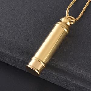 LKJ11928, collar de cremación de tubo de Color pulido superior, contenedor de ceniza humana, colgante cilíndrico, recuerdo de funeral