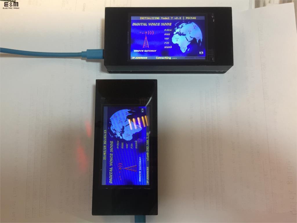Écran LCD 3.2 pouces MMDVM Hotspot 20 MW UHF panneau intégré pour Raspberry Pi zéro W Wifi à bord avec carte SD antenne RainSunCircuits intégrés   -