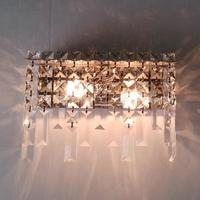 Rectangle Transparent Crystal Wall Lamps 1 2 E14 Led Bulb Make Up Lamp Living Room Mirror