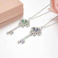 ZOZIRI Vintage fashion statement cool keys necklaces for women summer New Charms small key Pendants Necklace Silver Jewelry
