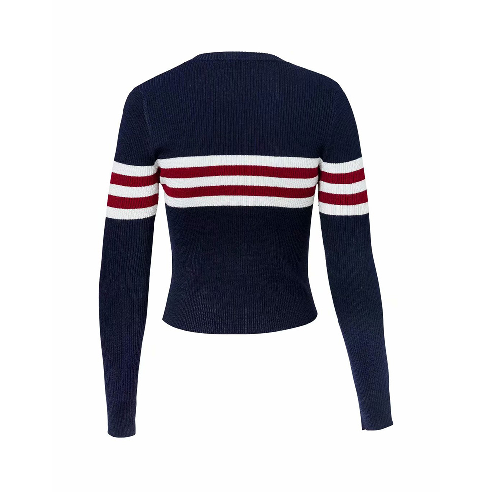 76370c15d Young17 Sweet Girl White Black Short Sweater Women Crop Knitwear Red ...
