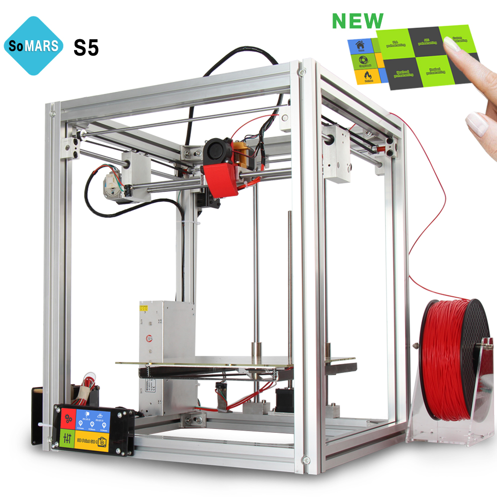 SoMARS S5 2017 New 3 D Printer Metal Frame DIY Kit Printers 3d Auto Leveling Touch