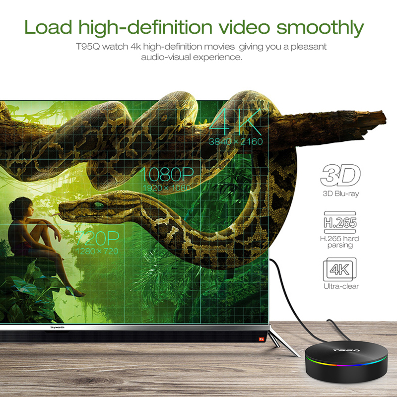 Image 4 - Android 8.1 TV Box T95Q Amlogic S905X2 Quad Core Smart TV Box ARM Dvalin MP2 Set Top Box 4K Dual WiFi Bluetooth 4.1-in Set-top Boxes from Consumer Electronics