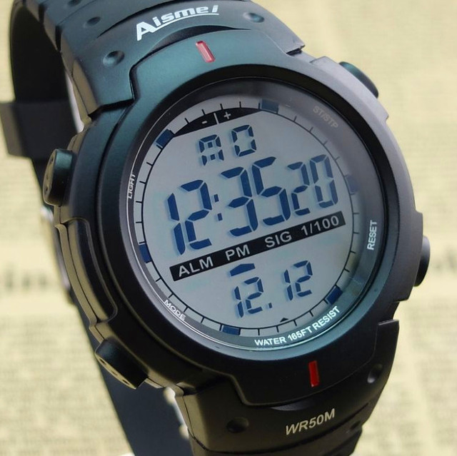 Aismei Newest High quality digital watch,Waterproof Outdoor watches sport watch digital chronograph watch for men reloj hombre