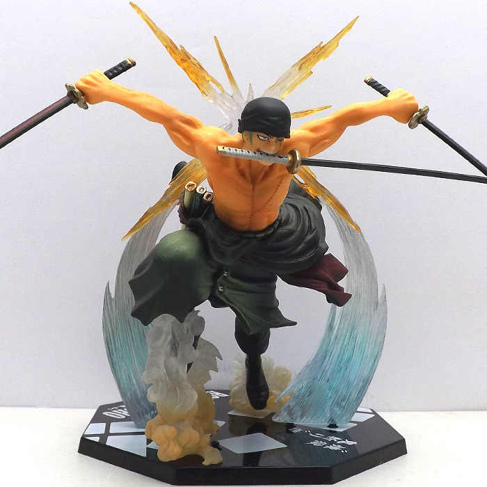 Anime One Piece Monkey D Luffy Action Figure PVC Roronoa Zoro de combate figura brinquedo mundo Onepiece modelo frete grátis