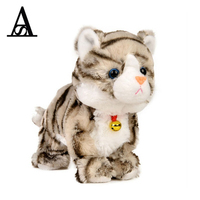 2017 New Baby Toys Sound Control Electronic Pet Electronic Toys Cat Robot Cat Stand Walk Plush Kids Toys Gift for Children