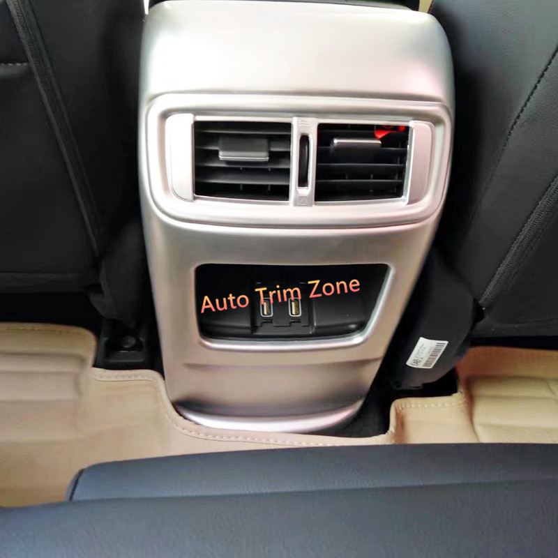 Interior ABS Matt Armrest AC Air Grille Cover Trim For Honda CR V CRV 2017 2018
