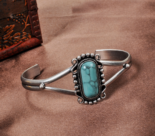 Twilight Natural turquoise bracelet fashion vintage bracelet female size adjustable