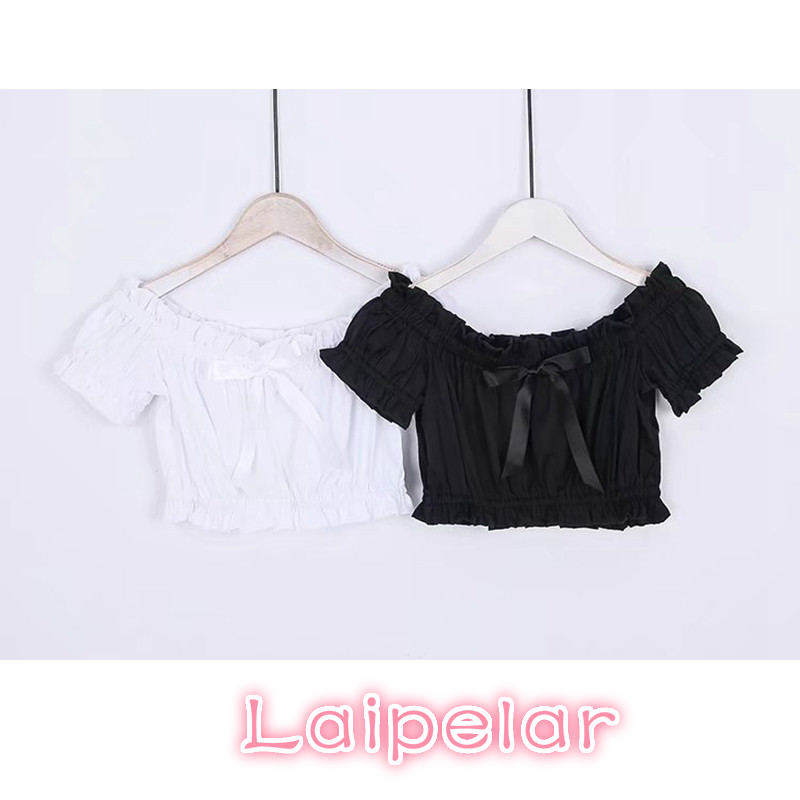 Summer women top and blouse Sexy puff sleeve white Chiffon ruffles shirt blouse 2018 elegant Slash Neck bow lace up top blusa in Blouses amp Shirts from Women 39 s Clothing