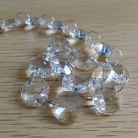 200meters of 14mm octagon clear beads chain + 250pieces of 30mm diamond ball clear