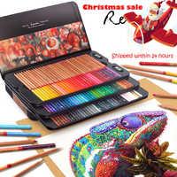 Marco renair 24/36/48/72/100 colores lapices conjunto de lápices de colores profesionales juego de lápices de dibujo al por mayor