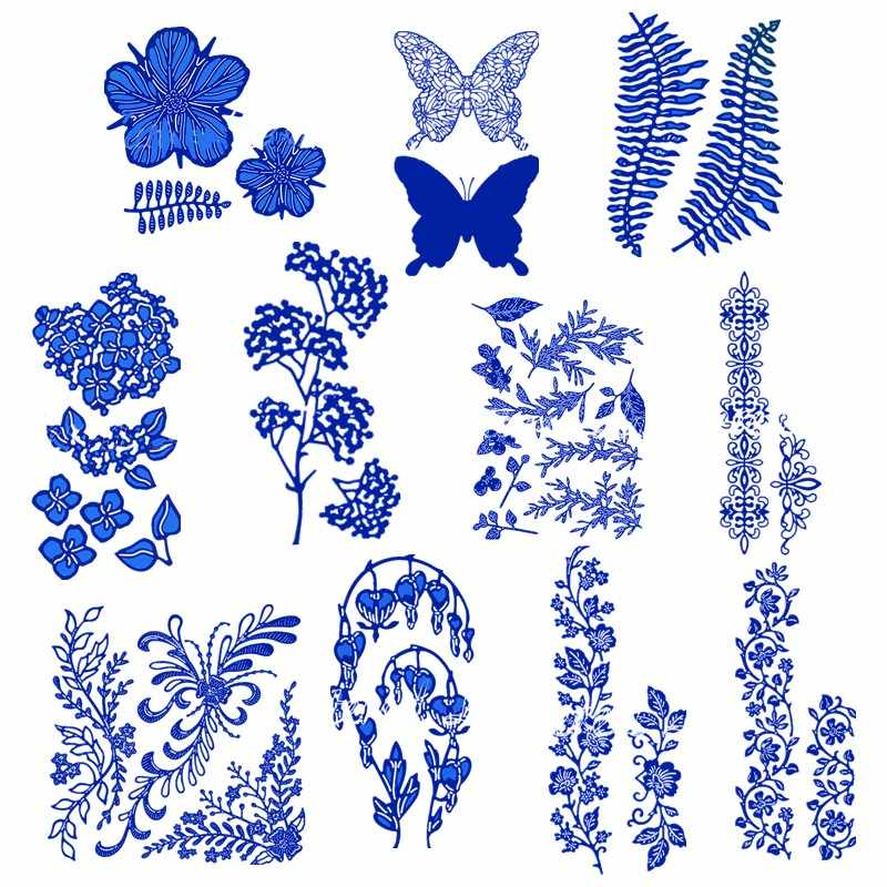 Wild Wood Blossom Flowers Leaves Vines Metal Cutting Dies for DIY Scrapbooking Paper Cards Making Crafts Supplies 2019 New