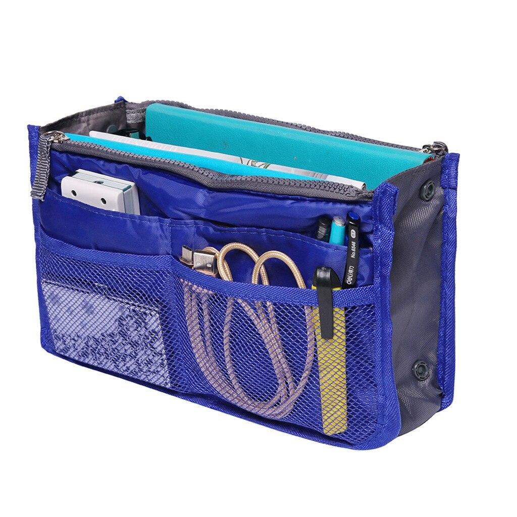 Image 4 - Portable Multifunction Dual Zipper Storage Bags Cosmetic Organizer Holder Organizer Storage Bag Organizer For Travel 2019-in Storage Bags from Home & Garden