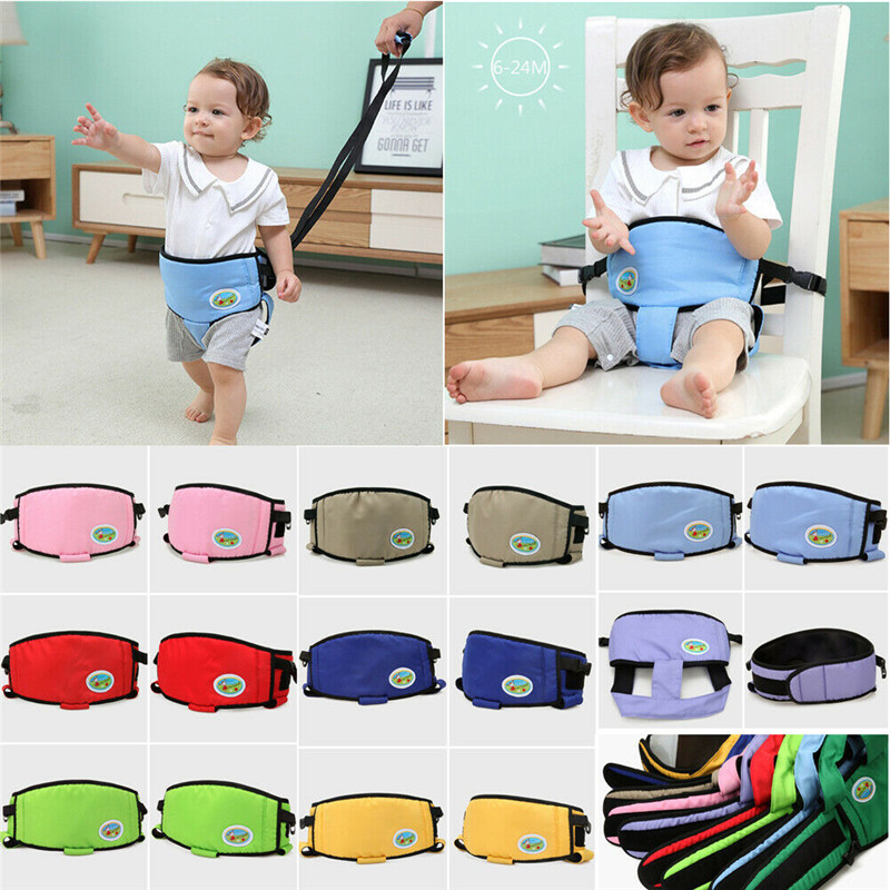 PUDCOCO Portable Safety Baby Dining Belt Chair Seat Feeding Stretch Wrap Learn Walking Belt Walker Wing Helper Assistant Harness