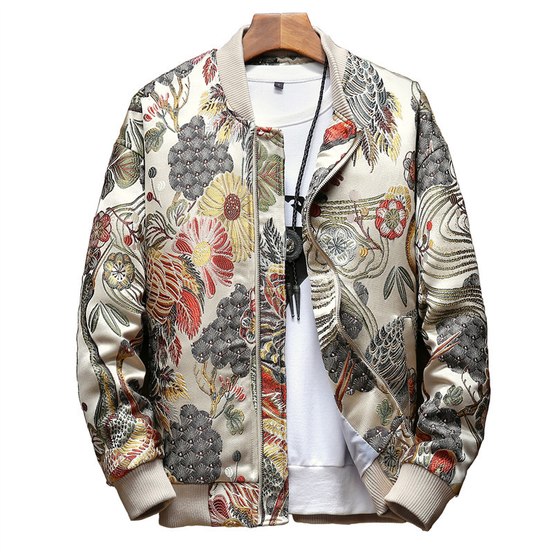OKMJS Japanese Embroidery Men Jacket Coat Man Hip Hop Streetwear Men Jacket 2019 Autumn New  Coat Bomber Jacket Men Clothes(China)