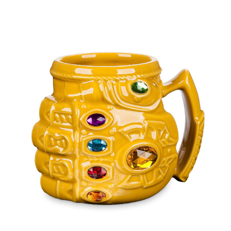 Marvel Coffee Mugs Thanos Cups and Mugs Gloves Fist Mark Cool creative Drinkware taza de m&m