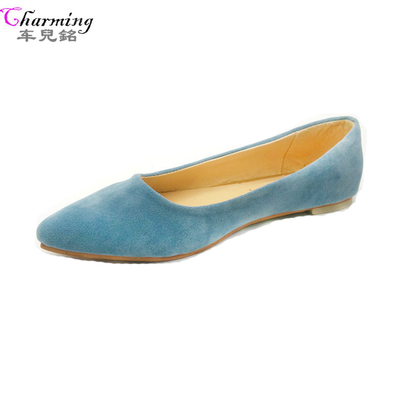 2016 NEW Fashion Women Shoes Woman Flats high quality women casual shoes suede pointed toe Rubber Women Flat Shoe Hot  sale kbstyle 2017 new spring shoes for women brand pointed toe womens flats fashion young ladies casual shoes hot sale wholesale
