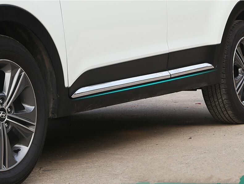 JIOYNG ABS Chrome CAR SIDE DOOR BODY PROTECTOR Molding COVER TRIM FOR Hyundai Creta / ix25 2014 2015 2016 2017 2018 BY EMS