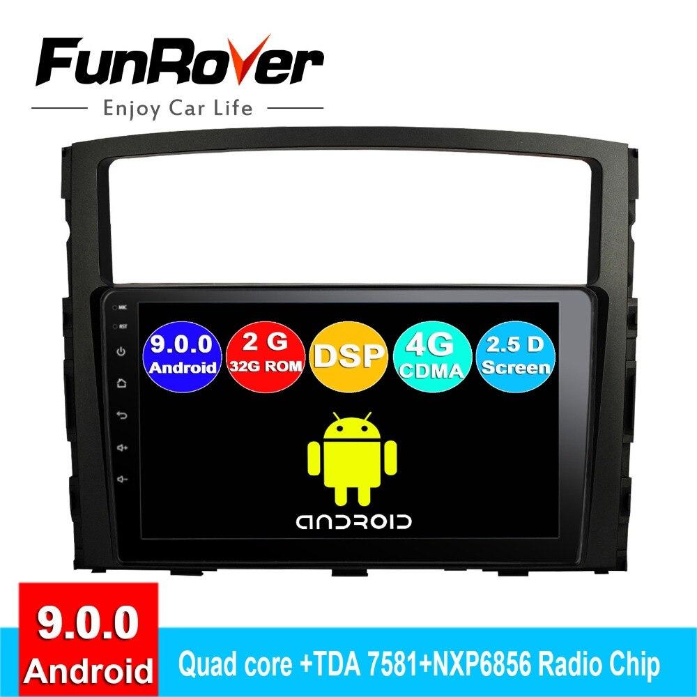 FUNROVER 2din android9.0 car dvd multimedia player For Mitsubishi Pajero V97 V93 2006-2015 radio gps navigation autoradio stereoFUNROVER 2din android9.0 car dvd multimedia player For Mitsubishi Pajero V97 V93 2006-2015 radio gps navigation autoradio stereo