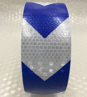 50mm x 25 m cinta de advertencia reflectante Brillante con la flecha de impresión