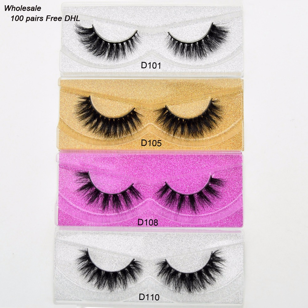 Free DHL 100pairs Visofree Eyelashes 3D Mink Lashes Handmade Mink Dramatic Lashes 68styles cruelty free reusable lashes wholsale-in False Eyelashes from Beauty & Health