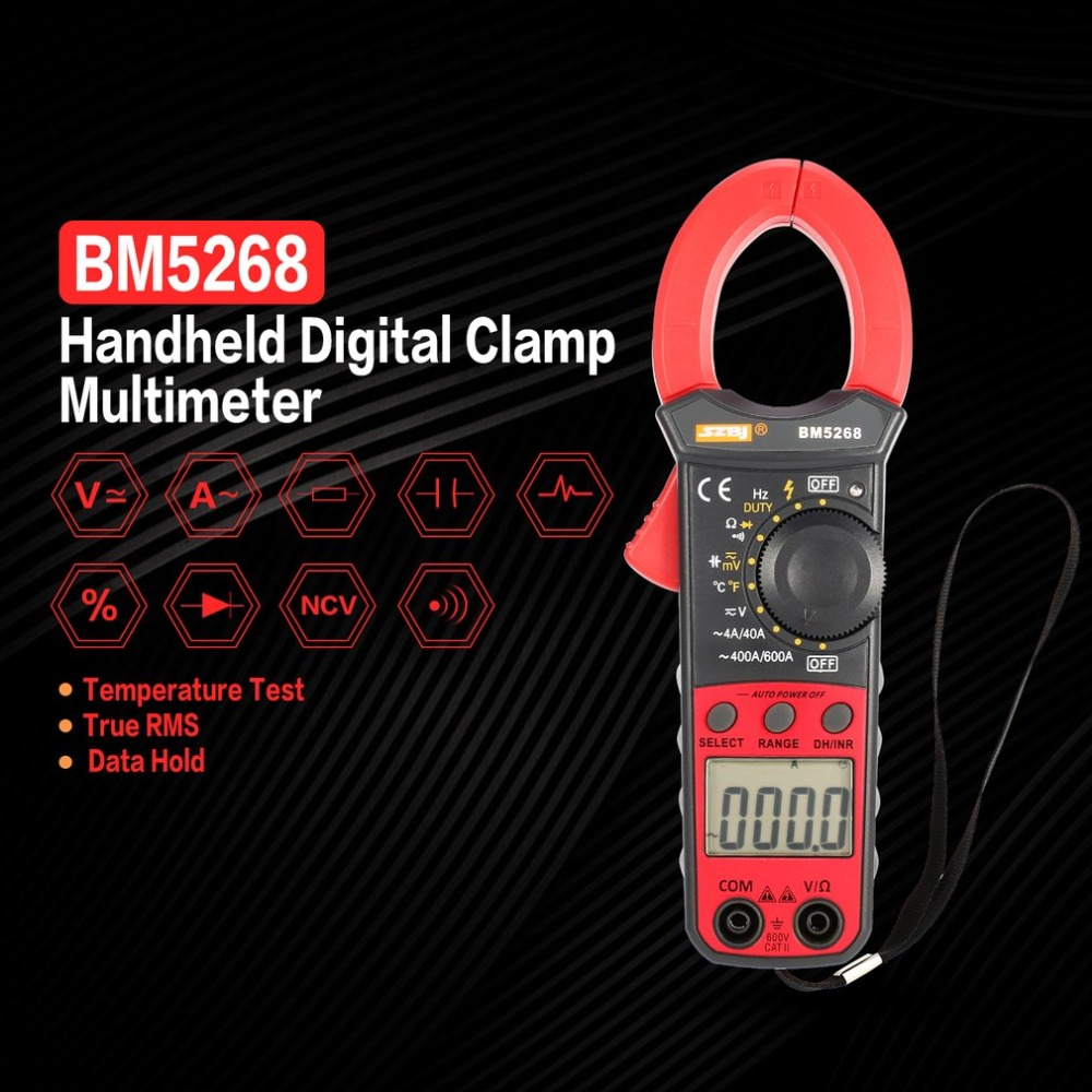 Current Testers Current Clamps Dual Leads Tools Digital Clamp ...