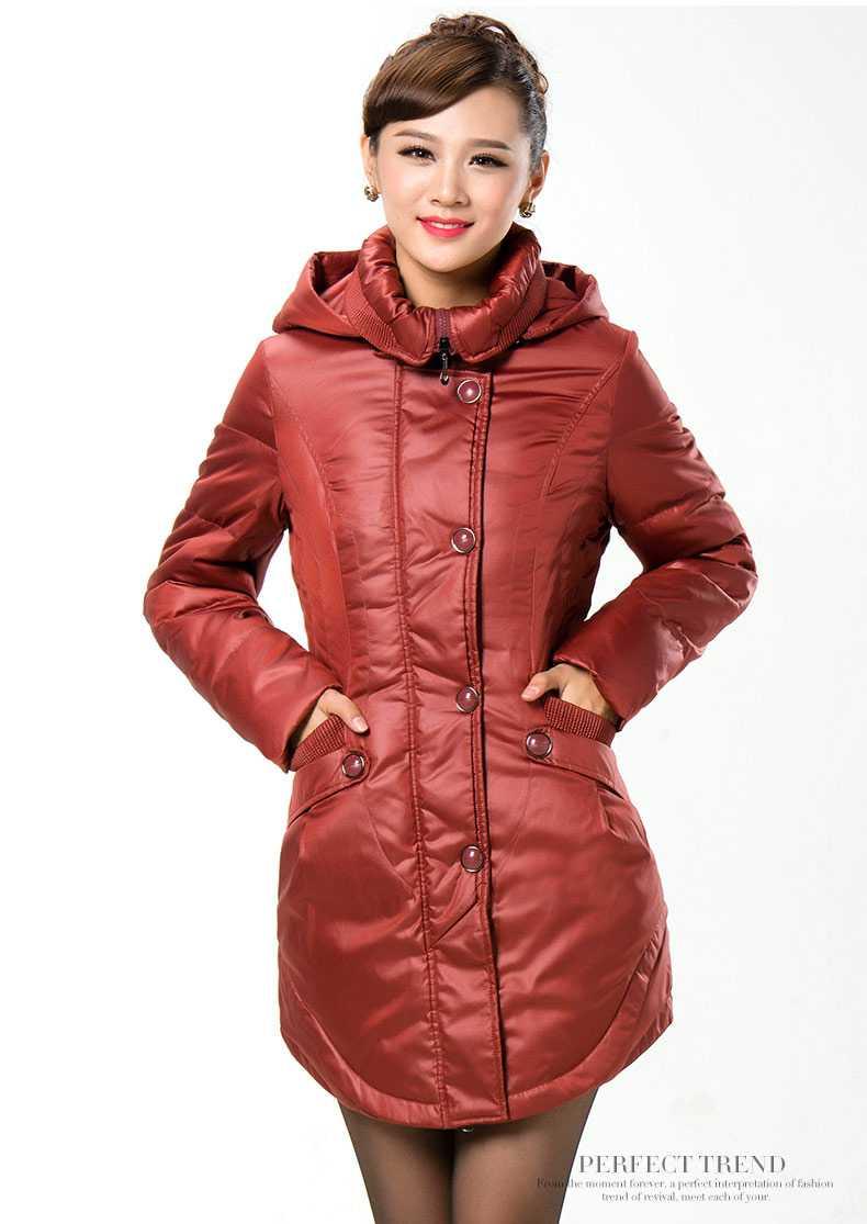 On Sale 2015 New Women Hooded Slim Waist Down Parkas Fashion Winter Coat Women  Thicken Wadded Overcoat Jackets H5601