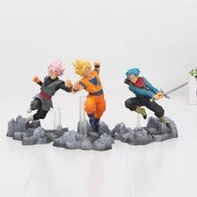 13-15cm Dragon Ball Super Saiyan Son Goku Black Trunks PVC Action Figures Toys soul X soul Dragon Ball Z figure