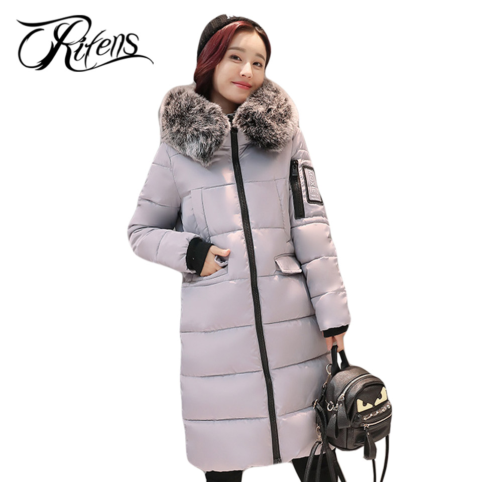 Urifens New Winter 2017 Down Cotton Jacket Women Slim Thick Coat Hooded Camouflage Zipper Solid Long Parka Female Outwear LY03 thick hooded down jacket women slim print long winter coat camouflage y160
