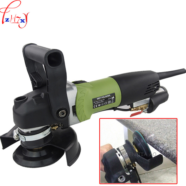 US $107 5 14% OFF|125mm polishing machine Hand held water injection type  cement floor marble stone smooth polishing machine 110/220V 800W-in  Polishers