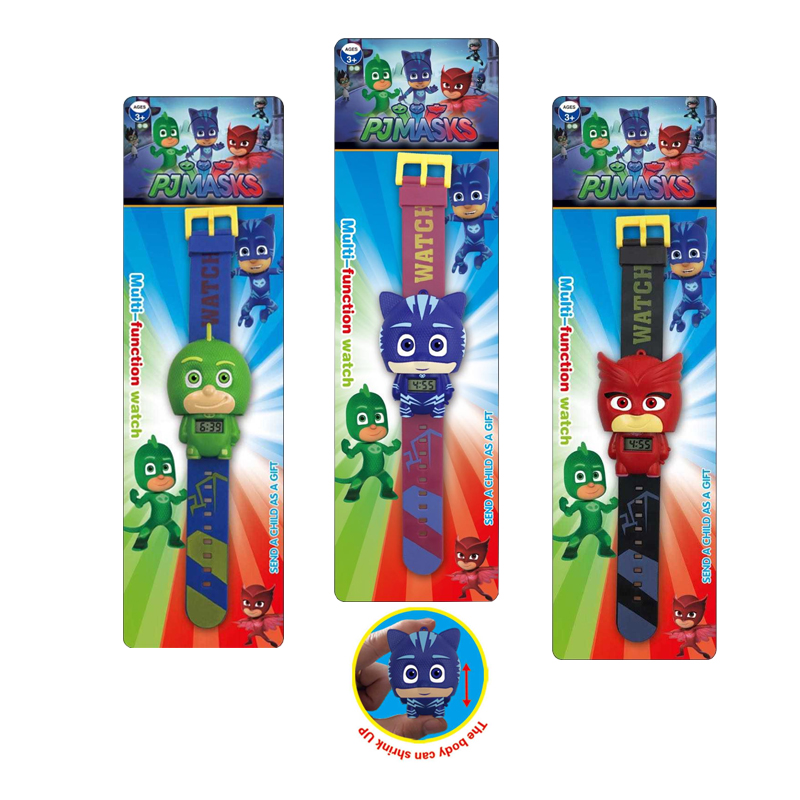 Children's Pj Cartoon Catboy Party Watch Gekko Cloak Masks Characters Action Figure Toys Boy Birthday Gift With Retail Package