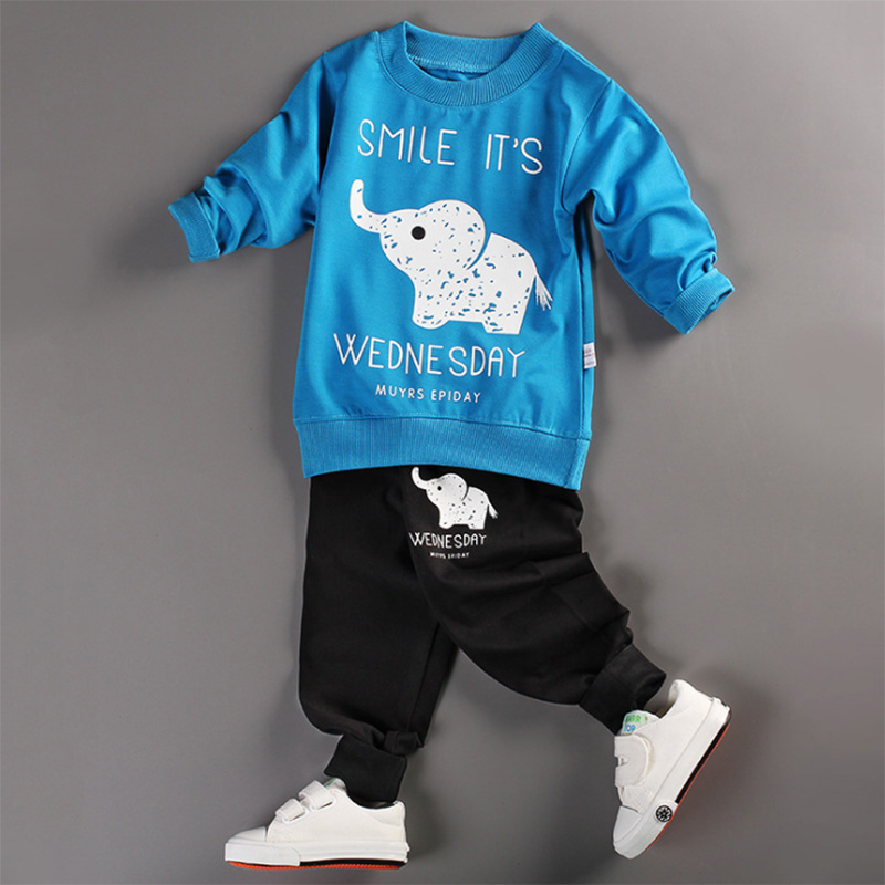 18M-5T Baby Boys Clothing Sets 2017 Spring&Autumn Kids Clothes Casual Boys Girls Clothes Costume Children Clothing Sets for Boys spring kid boys girls print sweater with hat children casual clothing 2016 children s sets summer kids baby boy clothes 2987
