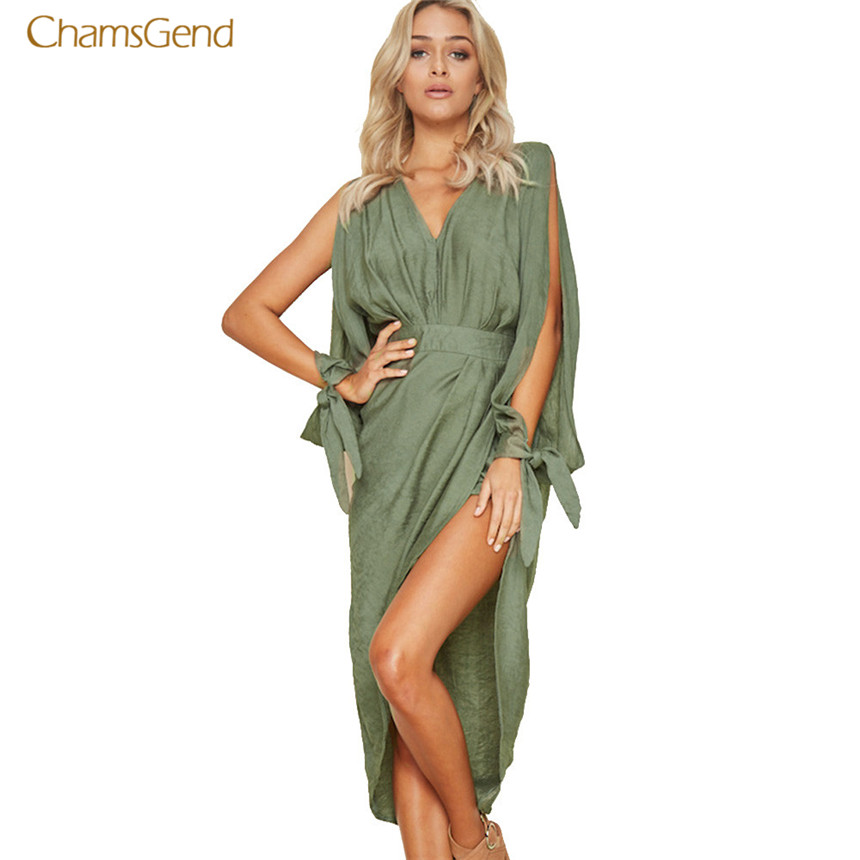 CHAMSGEND 2018 Fashion New Women Summer Dress Boho Sexy Mini Dress Evening Party Beach Dresses Casual Style Female Sundress