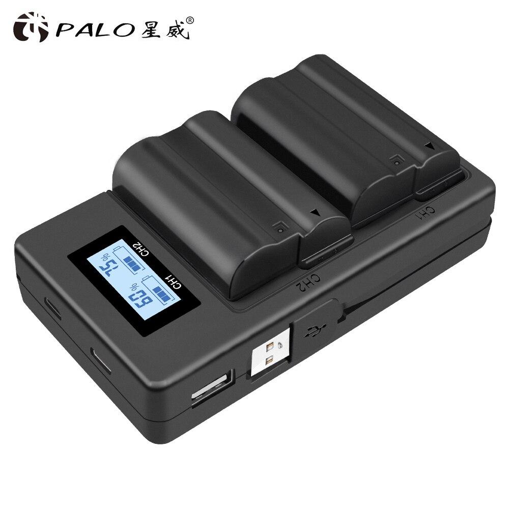 2 pièces EN-EL15 EL15 EN-EL15a ENEL15a EN EL15a Batterie + 1Pc USB Double Chargeur pour Nikon D850 D810 D810A D750 D500 D7500 D7200 D7100