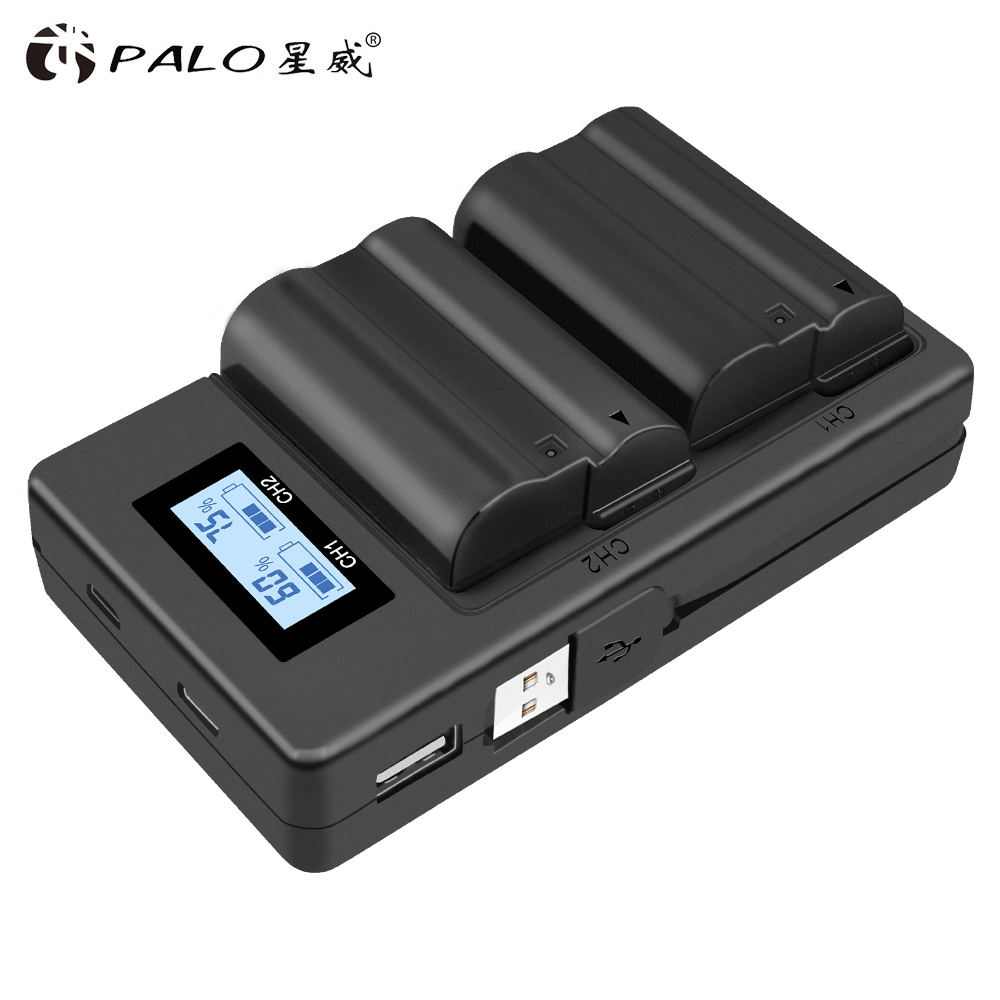2 uds EN-EL15 EL15 EN-EL15a ENEL15a es EL15a batería + 1Pc cargador Dual USB para Nikon D850 D810 D810A D750 D500 D7500 D7200 D7100