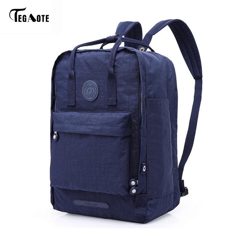 TEGAOTE Fashion Backpack School Women Schoolbag Leisure Korean Ladies Knapsack Antitheft Laptop Travel Bags for Teenage Girls fashion school backpack men boys schoolbag back pack leisure korean man laptop knapsack waterproof travel bags for teenagers