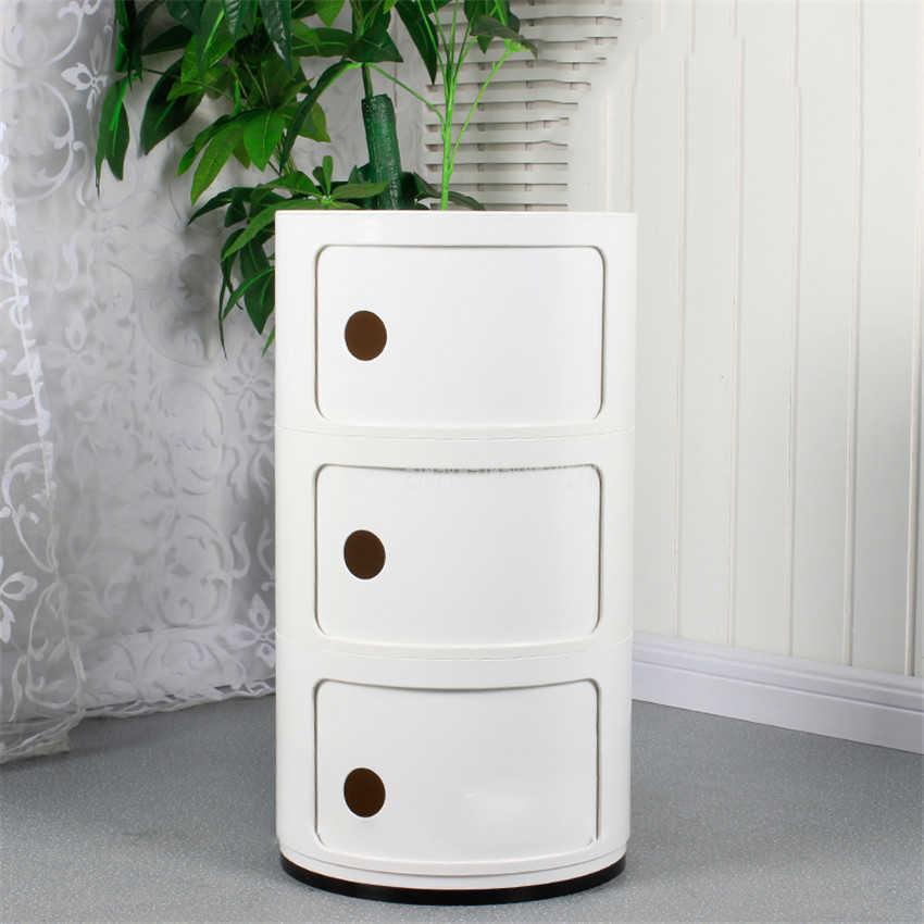 Минималистичный 3 слоя тумбочки скандинавские современные ABS Гостиная Спальня прикроватный Шкаф простой прикроватный шкаф для хранения мебель