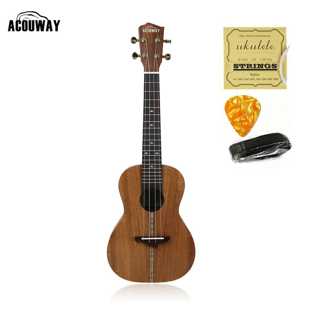 Acouway Ukulele 21 24 26 inch Ukulele Soprano Concert Tenor Ukulele Acacia wood KOA uku Ukelele Hawaii guitarMusical Instrument